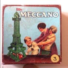 Juegos construcción - Meccano: CAJA DE CARTON MECCANO VACIA. Lote 54727172