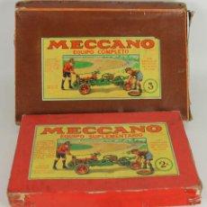 Juegos construcción - Meccano: MECCANO. EQUIPO SUPLEMENTARIO 2A Y EQUIPO COMPLETO 3. CIRCA 1950.. Lote 52151966