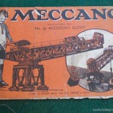 Juegos construcción - Meccano: MANUAL DE INSTRUCCIONES MECCANO Nº 2A MUY ANTIGUO INGLÉS. Lote 56144618