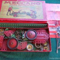 Juegos construcción - Meccano: MECCANO EQUIPO COMPLEMENTARIO 1A ANTIGUO INGLÉS. Lote 56146102