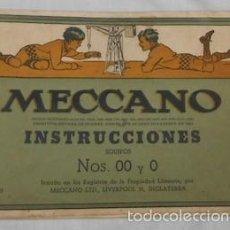Juegos construcción - Meccano: INSTRUCCIONES DE MECCANO EQUIPOS Nº 0 Y OO. Lote 56666100