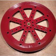 Juegos construcción - Meccano: MECCANO PART 19C. DARK RED, DOUBLE-TAPPED. . Lote 64054915