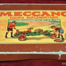Juegos construcción - Meccano: CAJA ANTIGUA Nº 2ª MECCANO CON SUS INSTRUCCIONES. Lote 57724853