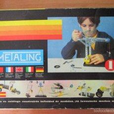 Juegos construcción - Meccano: METALING 1 DE POCH, TIPO MECCANO, AÑOS 70. Lote 58946505