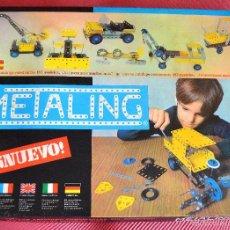 Juegos construcción - Meccano: METALING - JUEGO DE CONSTRUCCION MECCANO - POCH 197 - CAJA MANUAL DE INSTRUCCIONES Y ALGUNAS PIEZAS. Lote 59730584