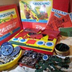 Juegos construcción - Meccano: LOTE MECCANO ESPAÑOL- VER DESCRIPCION AÑOS 60. Lote 73481479