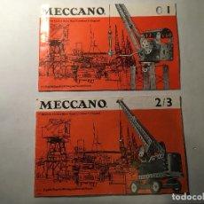 Juegos construcción - Meccano: INSTRUCCIONES MECCANO - 0, 1, 2, 3 - DOS LIBRETOS - MUY BIEN CONSERVADOS - BUEN ESTADO - AÑOS 60. Lote 75828275