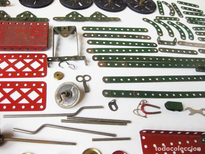 Juegos construcción - Meccano: LOTE DE PIEZAS Y RUEDAS DE MECCANO ANTIGUAS DE LA CAJA 1 - Foto 6 - 78921705