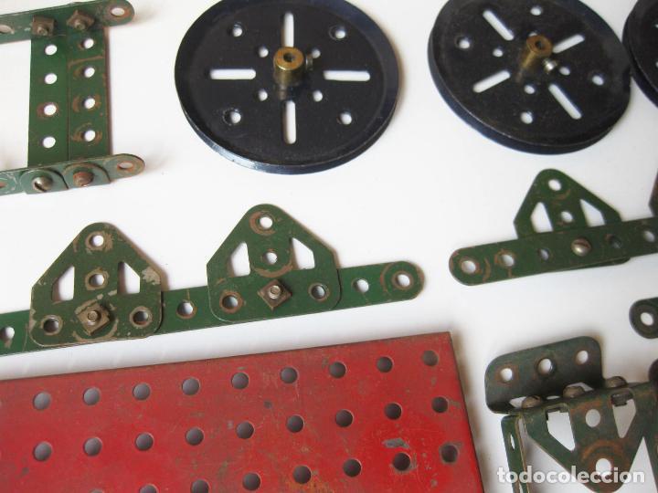 Juegos construcción - Meccano: LOTE DE PIEZAS Y RUEDAS DE MECCANO ANTIGUAS DE LA CAJA 1 - Foto 8 - 78921705