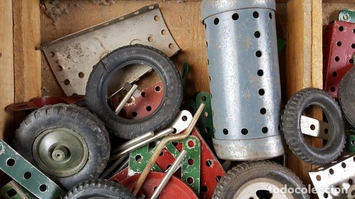 Juegos construcción - Meccano: LOTE DE PIEZAS DE MECCANO. CAJITA ORIGINAL. VER DESCRIPCION. SIGLO XX. - Foto 2 - 79300097