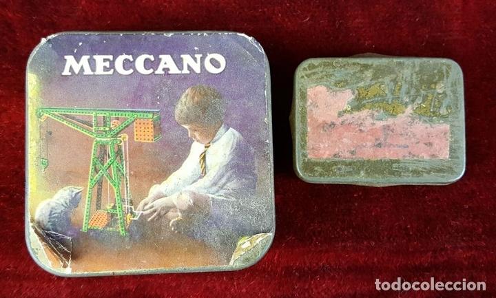 Juegos construcción - Meccano: LOTE DE PIEZAS DE MECCANO. CAJITA ORIGINAL. VER DESCRIPCION. SIGLO XX. - Foto 5 - 79300097