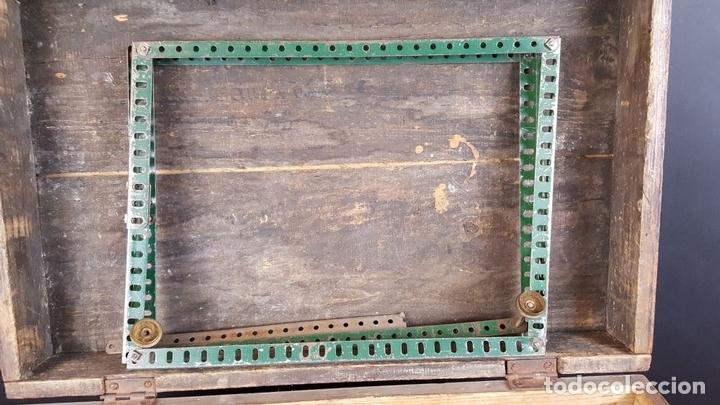 Juegos construcción - Meccano: LOTE DE PIEZAS DE MECCANO. CAJITA ORIGINAL. VER DESCRIPCION. SIGLO XX. - Foto 9 - 79300097
