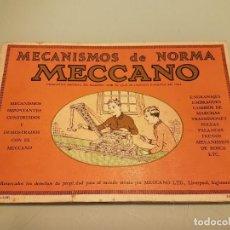 Juegos construcción - Meccano: MANUAL MECANISMOS NORMA MECCANO. Lote 79921077