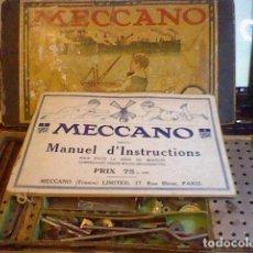 Juegos construcción - Meccano: MECCANO ANTIGUO JUEGO CAJA MADERA CARTON MUCHAS PIEZAS LEER Y VER FOTOS. Lote 80185869