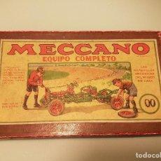 Juegos construcción - Meccano: CAJA MECCANO EQUIPO 00 CON SU CAJA PARA PIEZAS PEQUEÑAS Y MANUAL AÑO 1948 . Lote 80232717
