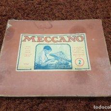 Juegos construcción - Meccano: CAJA MECCANO EQUIPO 2 CON SU CAJA PARA PIEZAS PEQUEÑAS AÑO 1945. Lote 80726034