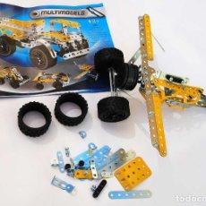 Juegos construcción - Meccano: MECCANO MULTIMODELS 10 MODELOS REF. 5560. INCOMPLETO. Lote 81693056