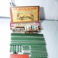 Juegos construcción - Meccano: LOS LOTES DE LA CLANDESTINA - INTERESANTE CAJA MECCANO 1A - EQUIPO SUPLEMENTARIO - MUY COMPLETA -. Lote 82999008