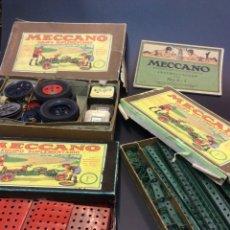 Juegos construcción - Meccano: MECCANO, ANTIGUO. 3 CAJAS EQUIPOS SUPLEMENTARIOS Y CATALOGO.. Lote 83826031