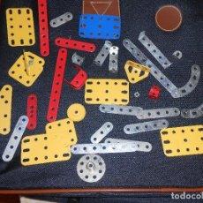 Juegos construcción - Meccano: LOTE 34 PIEZAS MECCANO AÑOS 80. Lote 86005508