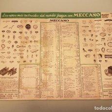 Juegos construcción - Meccano: FOLLETO MECCANO AÑOS 40. Lote 117721370