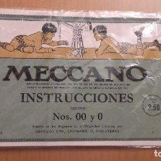 Juegos construcción - Meccano: INSTRUCCIONES ANTIGUAS MECCANO NUMEROS 00 Y 0 . Lote 89204000