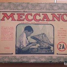 Juegos construcción - Meccano: MECCANO ANTIGUO EQUIPO SUPLEMENTARIO 2A. Lote 89205020