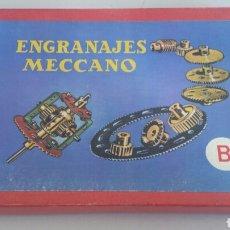 Juegos construcción - Meccano: CAJA DE ENGRANAJES B MECCANO ESPAÑOL AÑOS 50 COMPLETA CON MANUAL DE INSTRUCCIONES. Lote 90333752