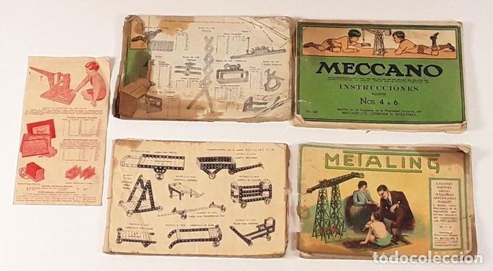 Juegos construcción - Meccano: CAJA CON PIEZAS DE MECCANO CON GRAN CANTIDAD DE PIEZAS. METAL. FRANCIA. CIRCA 1920. - Foto 3 - 91134355