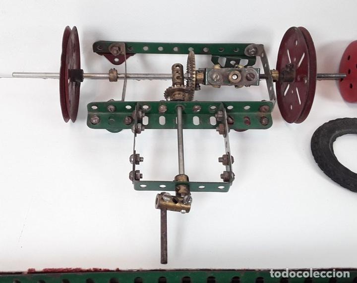 Juegos construcción - Meccano: CAJA CON PIEZAS DE MECCANO CON GRAN CANTIDAD DE PIEZAS. METAL. FRANCIA. CIRCA 1920. - Foto 6 - 91134355