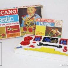 Juegos construcción - Meccano: CAJA DE JUEGO DE CONSTRUCCIÓN - MECCANO PLASTIC. CAJA A - NOVEDADES POCH - AÑOS 60-70 . Lote 95267911