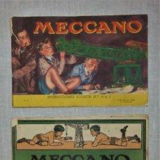 Juegos construcción - Meccano: 2 LIBROS DE INSTRUCCIONES MECCANO NºS 0 A 3 Y 4 A 6. Lote 95474231