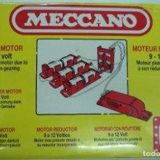 Juegos construcción - Meccano: MECCANO: MOTOR REDUCTOR DE 9 V A 12 V. ORIGINAL ¡¡NUEVO Y PRECINTADO!!.. Lote 96976643