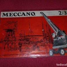 Juegos construcción - Meccano: INSTRUCCIONES MUY ANTIGUAS MECCANO - 23/69- EQUIPOS 2 Y 3. Lote 100658047