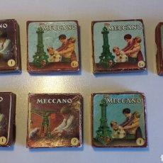 Juegos construcción - Meccano: LOTE DE 7 CAJAS VACIAS DE CARTON MECCANO. Lote 101353926