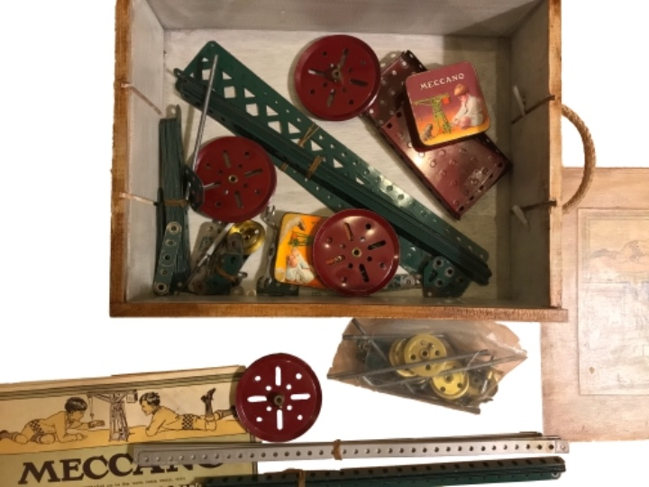 Juegos construcción - Meccano: caja de mecano nº 2, impreso en Inglaterra. - Foto 3 - 103656267