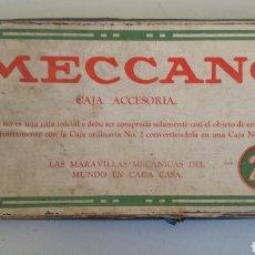 Juegos construcción - Meccano: CAJA ACCESORIA MECCANO 2 A EPOCA DEL NIQUEL EN ESPAÑOL VENDIDA EN LOS AÑOS 20 POR LA CASA DARNE. Lote 104873287
