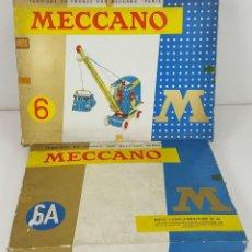 Juegos construcción - Meccano: JUEGO DE CONSTRUCCIÓN MECCANO. NUMEROS 6 Y 6A. EDICIÓN FRANCESA. CIRCA 1960. . Lote 105427967