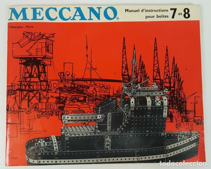 Juegos construcción - Meccano: JUEGO DE CONSTRUCCIÓN MECCANO. NUMEROS 6 Y 6A. EDICIÓN FRANCESA. CIRCA 1960. - Foto 2 - 105427967