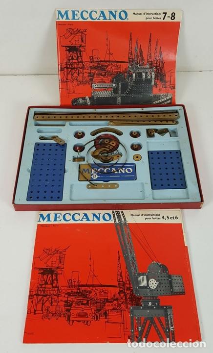 Juegos construcción - Meccano: JUEGO DE CONSTRUCCIÓN MECCANO. NUMEROS 6 Y 6A. EDICIÓN FRANCESA. CIRCA 1960. - Foto 5 - 105427967