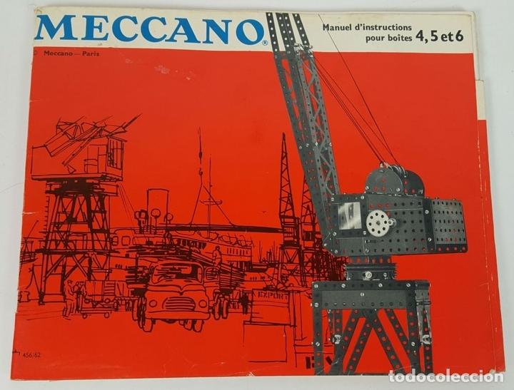 Juegos construcción - Meccano: JUEGO DE CONSTRUCCIÓN MECCANO. NUMEROS 6 Y 6A. EDICIÓN FRANCESA. CIRCA 1960. - Foto 6 - 105427967