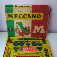 Juegos construcción - Meccano: JUGUETE VINTAGE MECCANO M 1 POCH. Lote 107201567