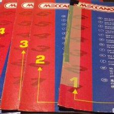 Juegos construcción - Meccano: INSTRUCCIONES MECCANO EVOLUTION 1.2.3.4.6. Lote 107235655