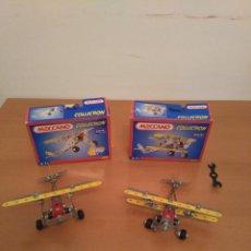 Juegos construcción - Meccano: PAREJA DE AVIONES MECCANO COLLECTION - 2102 Y 2103 CON CAJAS ORIGINALES Y MANUALES. Lote 108825943