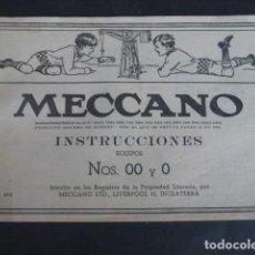 Juegos construcción - Meccano - LIBRO INTRUCCIONES MECCANO NUMEROS 00 Y 0 - 110064115