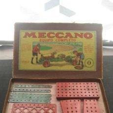Juegos construcción - Meccano: CAJA MECCANO CON PIEZAS. NUMERO 0. Lote 110789591