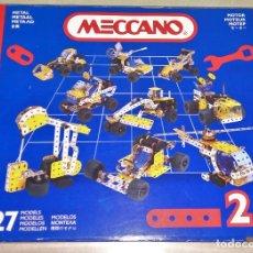 Juegos construcción - Meccano: MECCANO Nº 2 27 MODELOS METAL MOTOR CREATIVE SYSTEM. Lote 111199111