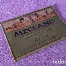 Juegos construcción - Meccano: INSTRUCCIONES MECCANO NOS 0 A 3 EQUIPOS. 46.3 LIVERPOOL, INGLATERRA.. Lote 111477383