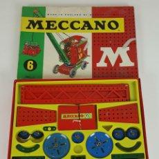Juegos construcción - Meccano: CAJA DE MECCANO. NUMERO 6. CAJA COMPLETA. AÑOS 50 / 60. . Lote 111761963