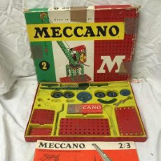 Juegos construcción - Meccano: CAJA DE MECCANO INGLES Nº2 CON LIBRO DE INSTRUCCIONES EN INGLES Y CASTELLANO.. Lote 112108219